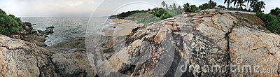 Ocean coast (panorama), Kerala, South India