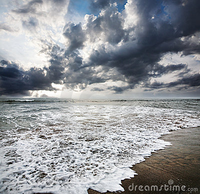 Ocean and dramatic sky