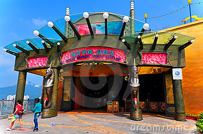Ocean express entrance at ocean park, hong kong Editorial Stock Image