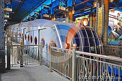Ocean express at ocean park, hong kong Editorial Stock Photo
