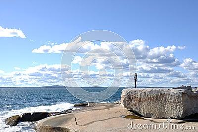 Ocean, Girl and Sky