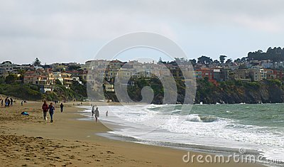Ocean and Land Converge Editorial Stock Photo