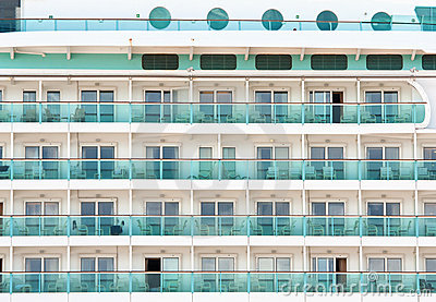 Ocean liner cabins background