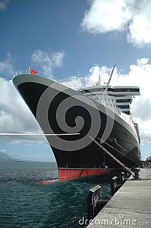 Ocean Liner at Dock
