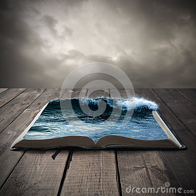 Free Ocean On An Open Book Stock Image - 43772721