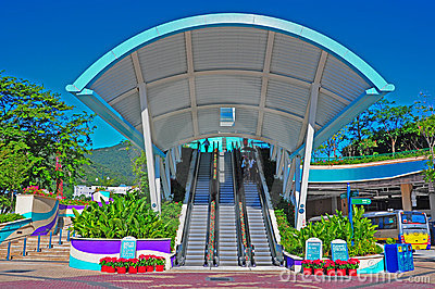 Ocean Park hong kong entrance Editorial Stock Photo
