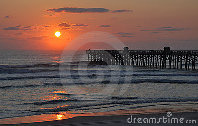 Ocean and Pier Sunrise (Sunset)