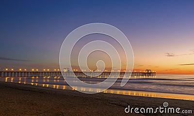 Ocean Pier at Sunset, California