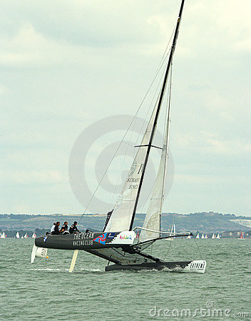 The Ocean Racing Club catamaran at cowes week Editorial Photo