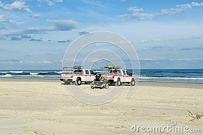 Ocean rescue trucks