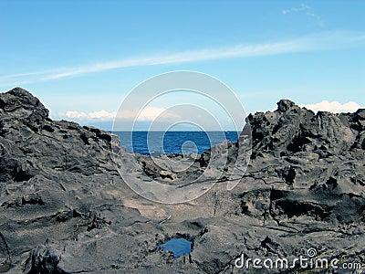Ocean between rocks