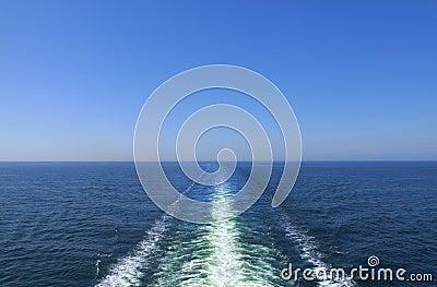 Ocean ship wake