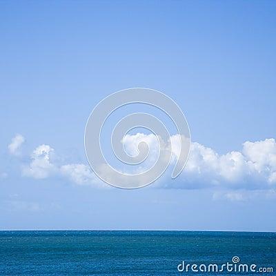 Ocean and sky.