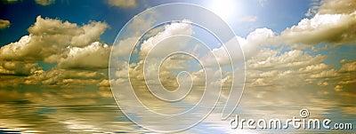 Ocean and sky panorama