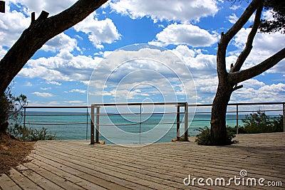 Ocean sky view