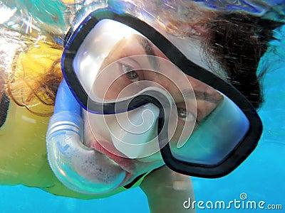 Ocean snorkeler