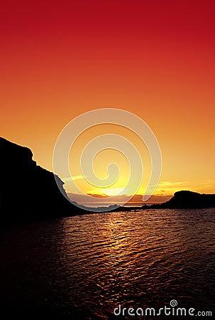Free Ocean Sunset Stock Image - 2284251