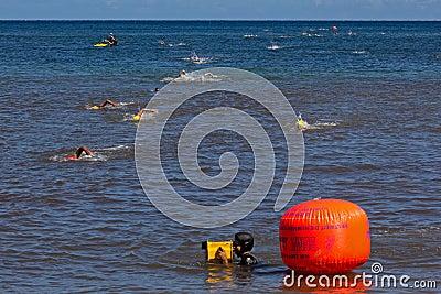 Ocean swim competition Editorial Stock Photo