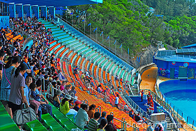 Ocean theatre of ocean park hong kong Editorial Photo