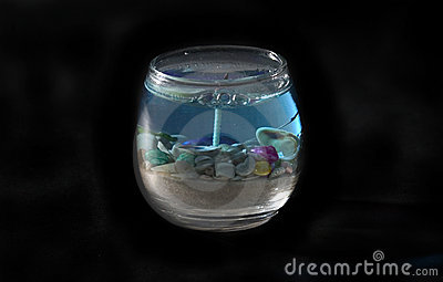 Ocean Theme Candle isolated