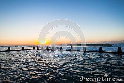 Ocean Tidal Pool Waves Dawn