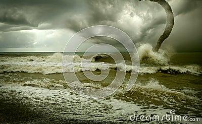 Ocean tornado.