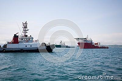 Ocean tugs boat
