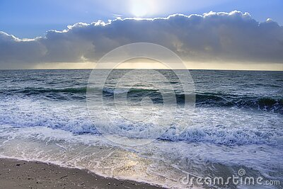 Ocean Under Blue Sky And White Clouds Free Public Domain Cc0 Image