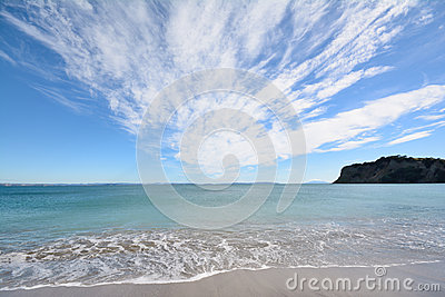 Ocean view and cloud formation