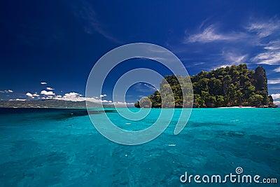Ocean View of island paradise