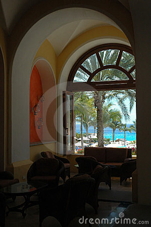 Free Ocean View Through Arched Window In Cabo San Lucas, Mexico Royalty Free Stock Photo - 195625