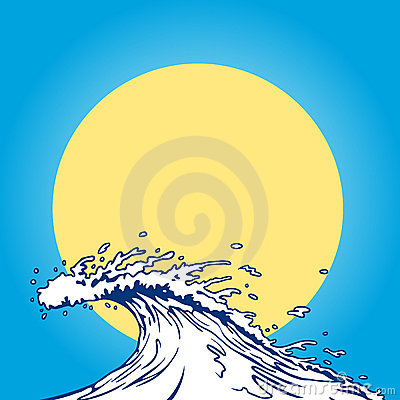 Royalty Free Stock Photos: Ocean wave cartoon clip art