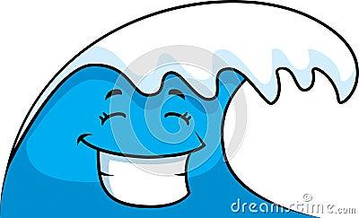 Ocean Wave Smiling