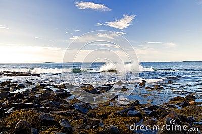 Ocean wave splashing