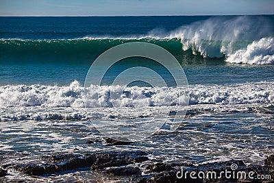 Ocean Wave Wall Spray