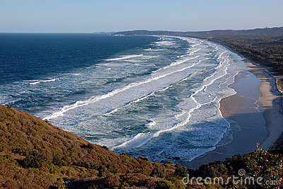 Ocean waves in Byron Bay, Australia
