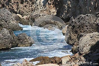 Ocean Waves Crashing On Shoreline