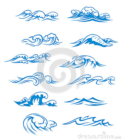 Ocean waves set
