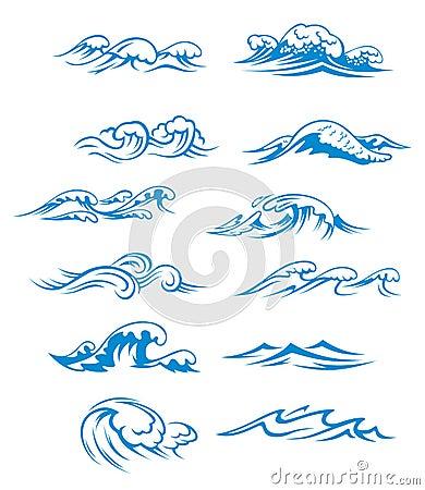 Free Ocean Waves Set Stock Images - 25623694