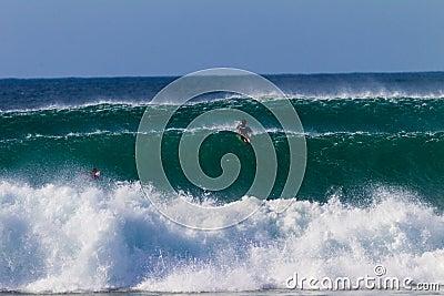 Ocean Waves Paddle Surfers