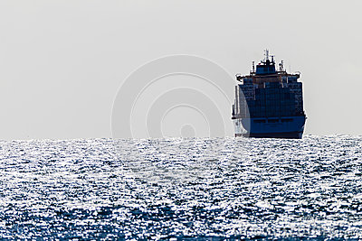 Ocean Winds Ship Containers Editorial Stock Image