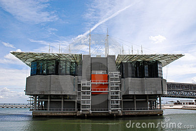 Oceanarium Building In Nations Park At Lisbon. Stock Image - Image: 15185211