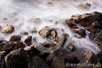 Oceano ad alba, astratta