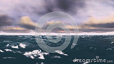 Oceano e nuvole di Timelapse video archivi video