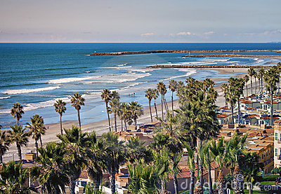 Oceanside Shoreline, California