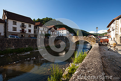 Ochagavia river and bridge, Navarra