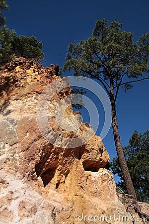 Ocher cliffs of Roussillon