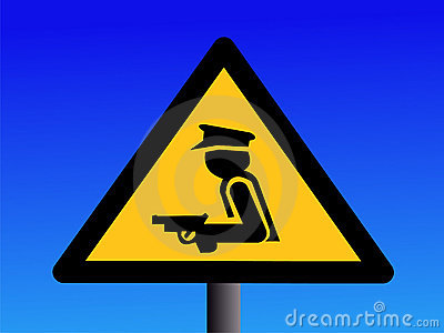 Ochroniarz uzbrojony znaku bezpieczeństwa