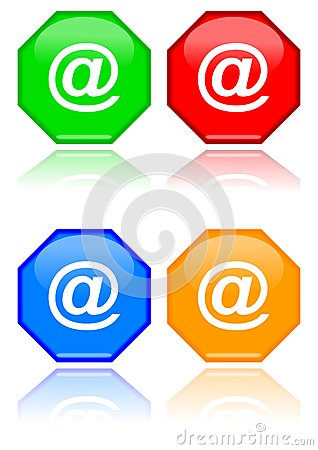 Free Octagons With At Sign Royalty Free Stock Photography - 27783187