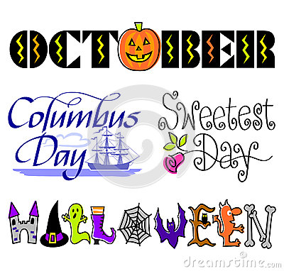 October Events Clip Art Set/eps